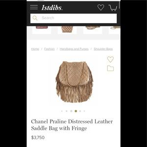 CHANEL Bags - FLASH SALE💐FiRM MiNT CHANEL distress fringe CC
